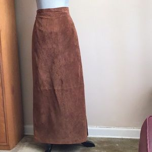 Chartered club rustic suede skirt
